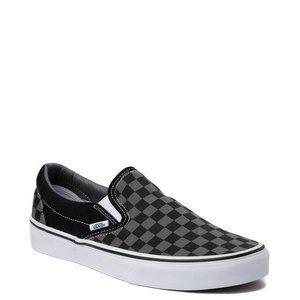 Checkered Van's BLK/GRAY sneakers SZ 7 MEN'S